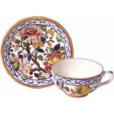 Чашка и блюдце для чая ПИОНЫ от Gien