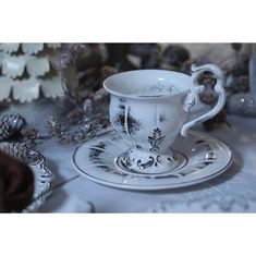 Чайная пара из керамики ФРАНЦУЗ от Evgeniya Kryukova