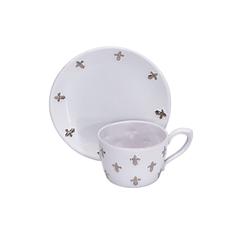 Малая чайная пара с платиновыми лилиями от Evgeniya Kryukova