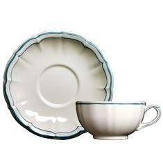 Чашка и блюдце для чая LES FILETS, цвет ACAPULKO от Gien