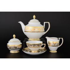 Чайный сервиз IMPERIAL WHITE GOLD от Falkenporzellan