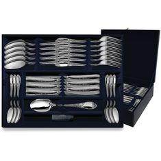 Набор столовых приборов из серебра ПРЕСТИЖ в футляре от Argenta на 12 персон