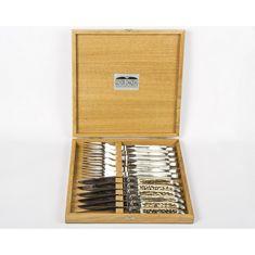Набор ножей и вилок с рукоятками из рога оленя на 6 персон от Goyon-Chazeau