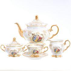 Чайный сервиз ФРЕДЕРИКА МАДОННА, декор - перламутр, от Moravec