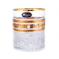 Набор хрустальных стаканов 320 мл ЗОЛОТЫЕ ОКОШКИ от Mclassic, 6 шт.