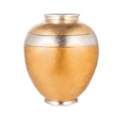 Керамическая ваза от Orgia, цвет золотой с платиновым, высота 32 см