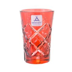 Набор хрустальных стаканов 60 мл РОЗА РУБИН от Arnstadt Kristall, 6 шт.