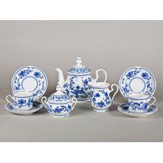 Сервиз чайный ГЖЕЛЬ МЭРИ-ЭНН от Leander на 6 персон, 15 предметов