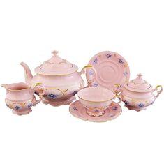 Сервиз чайный СОНАТА ГОЛУБЫЕ ЦВЕТЫ от Leander на 6 персон, 15 предметов
