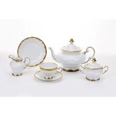 Чайный сервиз ПРЕСТИЖ от Weimar Porzellan на 6 персон, 21 предмет, подарочная упаковка
