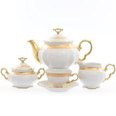 Чайный сервиз МАРИЯ-ЛУИЗА, декор - матовая полоса, от Carlsbad на 6 персон, 17 предметов