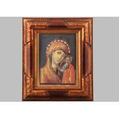 Икона на фарфоре КАЗАНСКАЯ БОГОМАТЕРЬ от Leander, деревянная рама