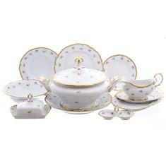 Столовый сервиз МЕЛКИЕ ЦВЕТЫ от Queens Crown (Prince Porcelain) на 6 персон, 27 предметов