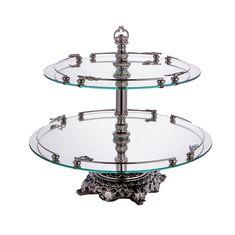 Горка (этажерка) 2 яруса Dimart S.N.C., сталь, стекло
