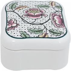 Коробочка для хранения квадратная ДОМИНО (Dominoté), декор РОЗЫ, от Gien