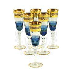 Набор хрустальных бокалов для шампанского ADRIATICA от Migliore