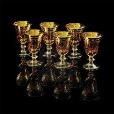Набор бокалов для вина или воды DINASTIA AMBRA от Migliore
