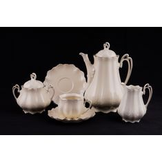 Сервиз чайный ВИКТОРИЯ ЭЛЕГАНТ, фарфор - слоновая кость, от Leander на 6 персон