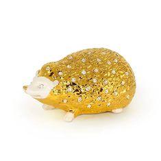 Керамическая фигурка ежика GIARDINO от Migliore с золотом и кристаллами Swarovski