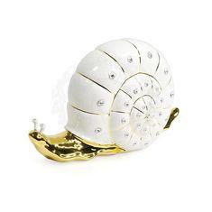 Статуэтка керамическая УЛИТКА GIARDINO от Migliore с золотом и кристаллами Swarovski