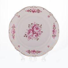 Фарфоровые тарелки 19 см РОЗА от Weimar Porzellan, 6 шт.