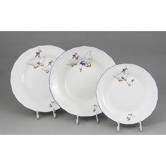 Набор фарфоровых тарелок ВЕРОНА, ГУСИ от Leander на 6 персон, 18 предметов