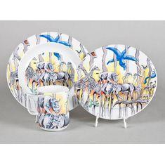Фарфоровый набор САФАРИ, коллекция САБИНА, от Leander, 3 предмета