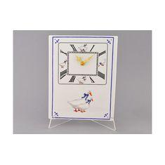 Часы кухонные 25 см ГУСИ от Leander, фарфор