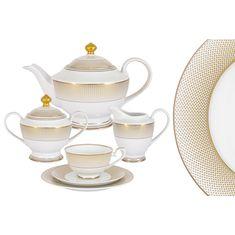 Чайный фарфоровый сервиз ВИРДЖИНИЯ от Midori на 6 персон, 23 предмета