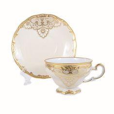 Набор чайных пар ЛАКЕ от Weimar Porzellan на 6 персон, фарфор