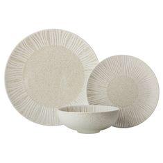 Набор фарфоровой посуды SOLARIS (песочный) от Maxwell & Williams на 4 персоны, 12 предметов, подарочная упаковка