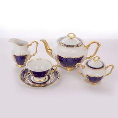Сервиз чайный фарфоровый ДЕКОР 2709 от Epiag на 6 персон, 15 предметов