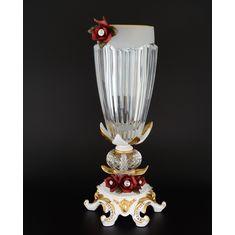 Ваза для цветов 52 см Цивик (Cevik), стекло, керамика