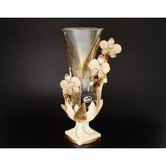 Ваза для цветов 46 см Цивик (Cevik), стекло, керамика