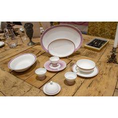Набор посуды из лиможского фарфора КЕЙП КОД от J.Seignolles, цвет черная смородина, 9 предметов