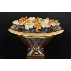 Фруктовница 37 см Цивик (Cevik), стекло, керамика