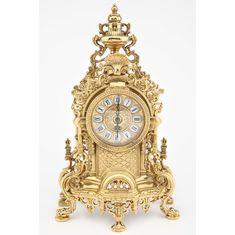 Настольные (каминные) часы от Alberti Livio, латунь, 24.5х42 см