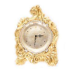 Настенные керамические часы Orgia, цвет платиновый с золотым, 42х58 см
