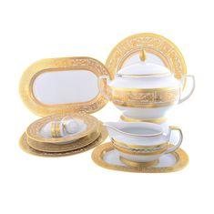 Столовый сервиз DIADEM WHITE CREME GOLD от Falkenporzellan на 6 персон, 27 предметов