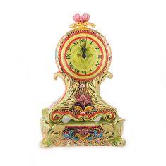 Часы керамические для стола или каминной полки SAMBUCO от Ceramiche d'Arte