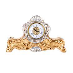 Настольные (каминные) керамические часы Orgia, цвет золотой с платиновым, 38х29 см
