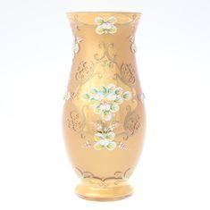 Ваза 30 см ЛЕПКА ЗОЛОТАЯ от Bohemia, богемское стекло
