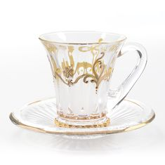 Набор чайных пар 180 мл WELLINGTON на 6 персон от Bohemia, богемское стекло