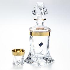 Набор для ликера QUADRO на 6 персон от Bohemia, 7 предметов, богемское стекло