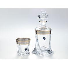Набор для виски QUADRO на 6 персон от Bohemia, 7 предметов, богемское стекло