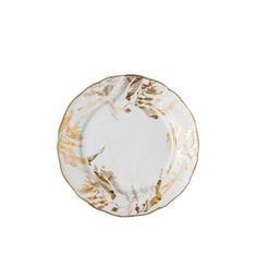 Фарфоровая тарелка 19 см МИДАС, белый цвет с золотым, от Rosenthal