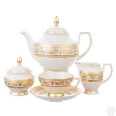 Чайный сервиз CONSTANZA IMPERIAL CREAM GOLD от Falkenporzellan на 6 персон, 23 предмета
