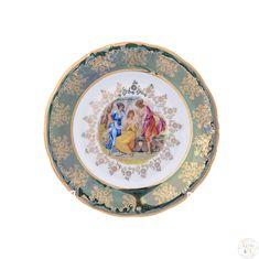 Набор фарфоровых тарелок 19 см ФРЕДЕРИКА МАДОННА, ЗЕЛЕНАЯ расцветка от Carlsbad, 6 шт.