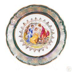 Набор фарфоровых тарелок 25 см ФРЕДЕРИКА МАДОННА, ЗЕЛЕНАЯ расцветка от Carlsbad, 6 шт.