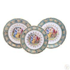 Набор тарелок ФРЕДЕРИКА МАДОННА, ЗЕЛЕНАЯ расцветка от Carlsbad, 18 предметов